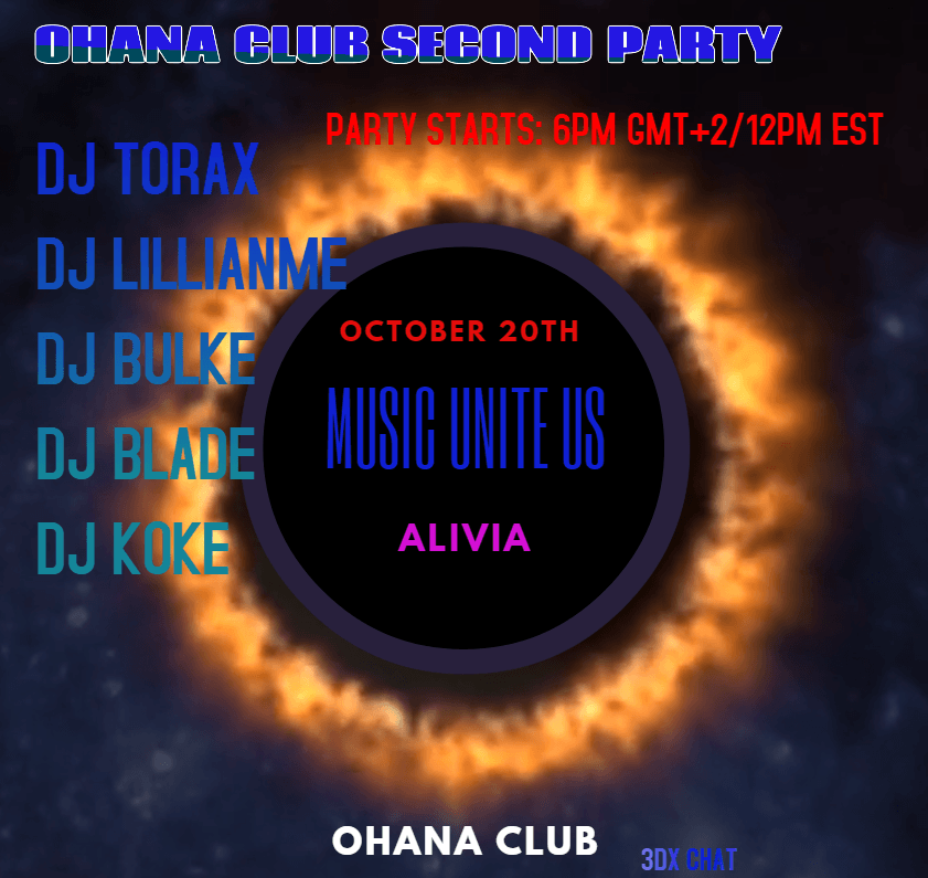 OHANA CLUB SECOND PARTY FRIDAY 20TH OCTOBER