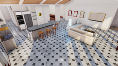 Open Concept Kitchen/Dining/Living Room