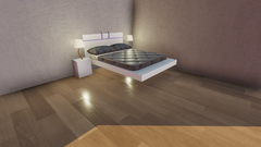 Master Bedroom w/ customized Bed