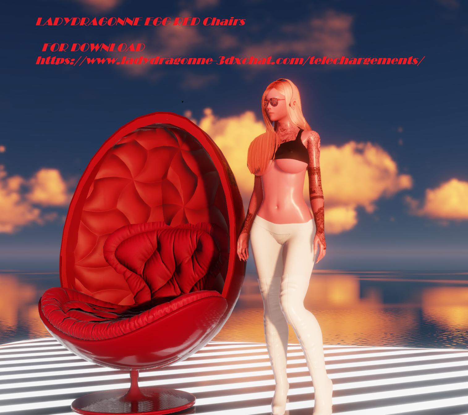 ladydragonne red egg chair