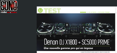 Denon DJ X1800 + SC5000 PRIME +The VL12 PRIME quartz-controlled vinyl turntable from DENON DJ